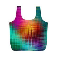 Colourful Weave Background Full Print Recycle Bags (m)  by Simbadda