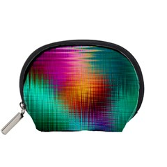 Colourful Weave Background Accessory Pouches (small)  by Simbadda