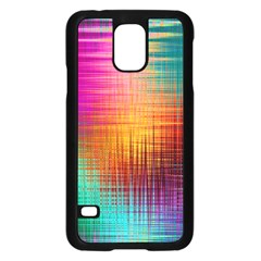 Colourful Weave Background Samsung Galaxy S5 Case (black) by Simbadda