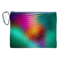 Colourful Weave Background Canvas Cosmetic Bag (xxl) by Simbadda