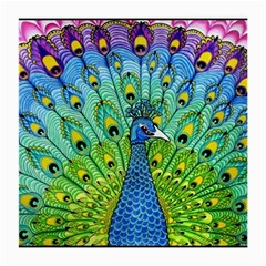 Peacock Bird Animation Medium Glasses Cloth (2 Side) by Simbadda