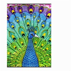 Peacock Bird Animation Small Garden Flag (two Sides) by Simbadda