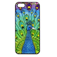 Peacock Bird Animation Apple Iphone 5 Seamless Case (black) by Simbadda