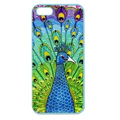 Peacock Bird Animation Apple Seamless Iphone 5 Case (color) by Simbadda