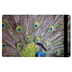 Peacock Bird Feathers Apple Ipad 3/4 Flip Case by Simbadda