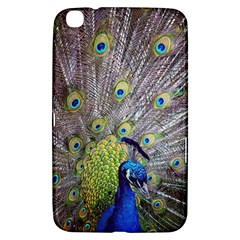Peacock Bird Feathers Samsung Galaxy Tab 3 (8 ) T3100 Hardshell Case  by Simbadda