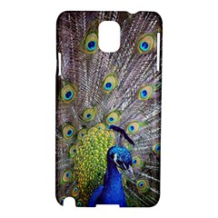 Peacock Bird Feathers Samsung Galaxy Note 3 N9005 Hardshell Case by Simbadda