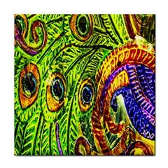 Peacock Feathers Face Towel by Simbadda
