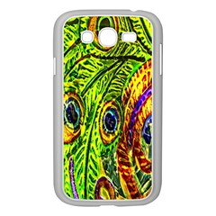 Peacock Feathers Samsung Galaxy Grand Duos I9082 Case (white) by Simbadda