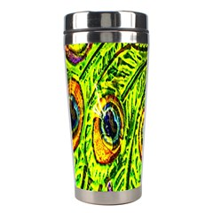 Peacock Feathers Stainless Steel Travel Tumblers by Simbadda