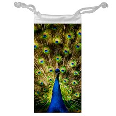 Peacock Bird Jewelry Bag by Simbadda
