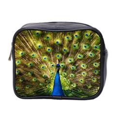 Peacock Bird Mini Toiletries Bag 2 Side by Simbadda