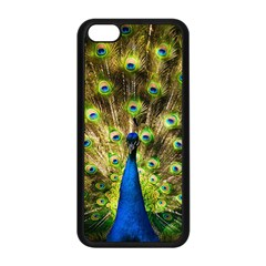 Peacock Bird Apple Iphone 5c Seamless Case (black) by Simbadda