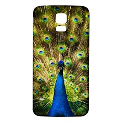 Peacock Bird Samsung Galaxy S5 Back Case (white) by Simbadda