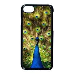 Peacock Bird Apple Iphone 7 Seamless Case (black) by Simbadda