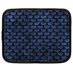 Scales3 Black Marble & Blue Stone (r) Netbook Case (xxl) by trendistuff