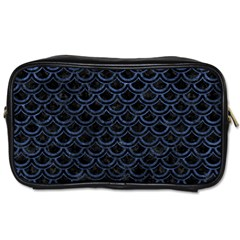 Scales2 Black Marble & Blue Stone Toiletries Bag (two Sides) by trendistuff