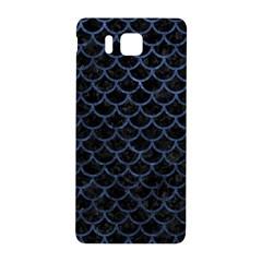 Scales1 Black Marble & Blue Stone Samsung Galaxy Alpha Hardshell Back Case by trendistuff