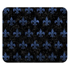 Royal1 Black Marble & Blue Stone (r) Double Sided Flano Blanket (small) by trendistuff