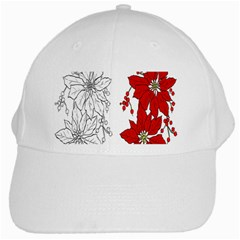 Poinsettia Flower Coloring Page White Cap by Simbadda