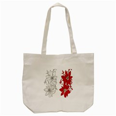 Poinsettia Flower Coloring Page Tote Bag (cream) by Simbadda