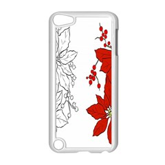 Poinsettia Flower Coloring Page Apple Ipod Touch 5 Case (white) by Simbadda