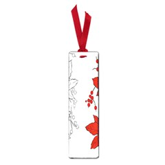Poinsettia Flower Coloring Page Small Book Marks by Simbadda
