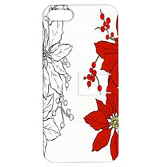 Poinsettia Flower Coloring Page Apple Iphone 5 Hardshell Case With Stand by Simbadda