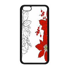 Poinsettia Flower Coloring Page Apple Iphone 5c Seamless Case (black) by Simbadda