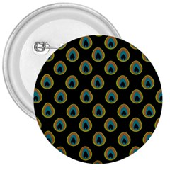 Peacock Inspired Background 3  Buttons by Simbadda