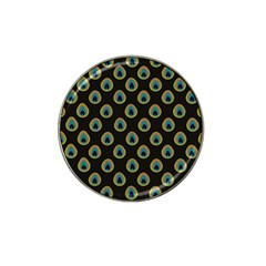Peacock Inspired Background Hat Clip Ball Marker (4 Pack) by Simbadda