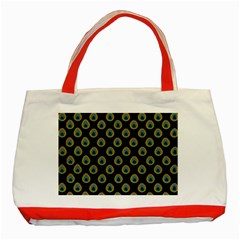 Peacock Inspired Background Classic Tote Bag (red) by Simbadda