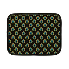 Peacock Inspired Background Netbook Case (small)  by Simbadda