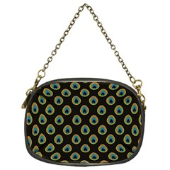 Peacock Inspired Background Chain Purses (one Side)  by Simbadda