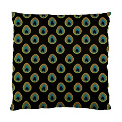 Peacock Inspired Background Standard Cushion Case (one Side) by Simbadda