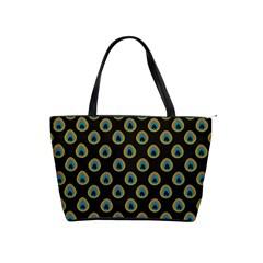 Peacock Inspired Background Shoulder Handbags by Simbadda
