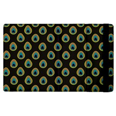 Peacock Inspired Background Apple Ipad 3/4 Flip Case by Simbadda