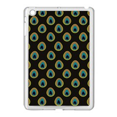 Peacock Inspired Background Apple Ipad Mini Case (white) by Simbadda