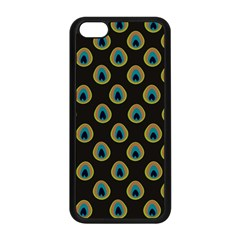 Peacock Inspired Background Apple Iphone 5c Seamless Case (black) by Simbadda