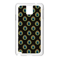 Peacock Inspired Background Samsung Galaxy Note 3 N9005 Case (white) by Simbadda