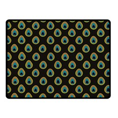 Peacock Inspired Background Double Sided Fleece Blanket (small)  by Simbadda