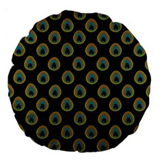 Peacock Inspired Background Large 18  Premium Flano Round Cushions by Simbadda