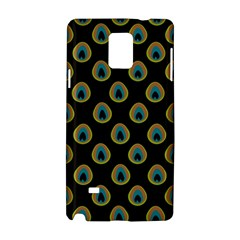 Peacock Inspired Background Samsung Galaxy Note 4 Hardshell Case by Simbadda