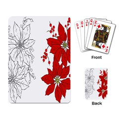 Poinsettia Flower Coloring Page Playing Card by Simbadda