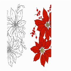 Poinsettia Flower Coloring Page Small Garden Flag (two Sides) by Simbadda