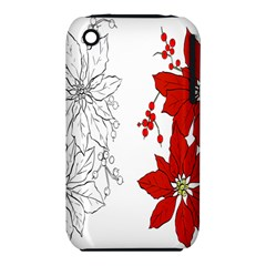 Poinsettia Flower Coloring Page Iphone 3s/3gs by Simbadda