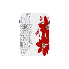 Poinsettia Flower Coloring Page Apple Ipad Mini Protective Soft Cases by Simbadda