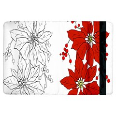 Poinsettia Flower Coloring Page Ipad Air Flip by Simbadda