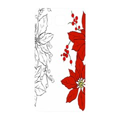 Poinsettia Flower Coloring Page Samsung Galaxy Alpha Hardshell Back Case by Simbadda