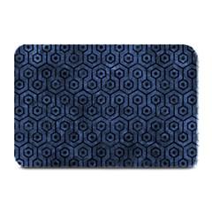 Hexagon1 Black Marble & Blue Stone (r) Plate Mat by trendistuff